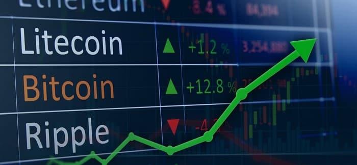 Value of cryptocurrencies